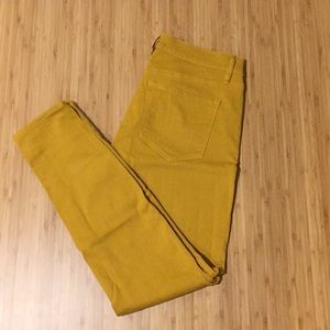 LOFT Mustard Skinny Jeans